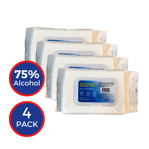 Multi-Purpose 75% Alcohol Wipes 50 Count (4-pack)