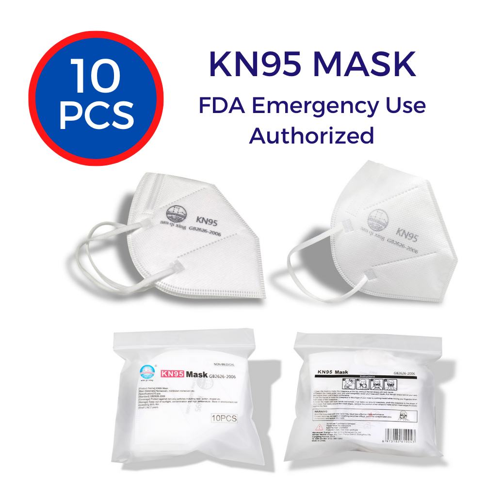 KN95 Protective Face Masks White (10-pack)