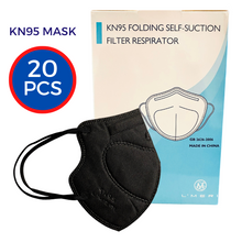 Load image into Gallery viewer, KN95 Protective Face Masks Black (20-pack)