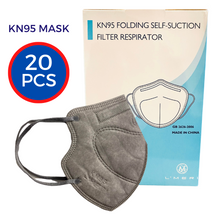 Load image into Gallery viewer, KN95 Protective Face Masks Grey (20-pack)