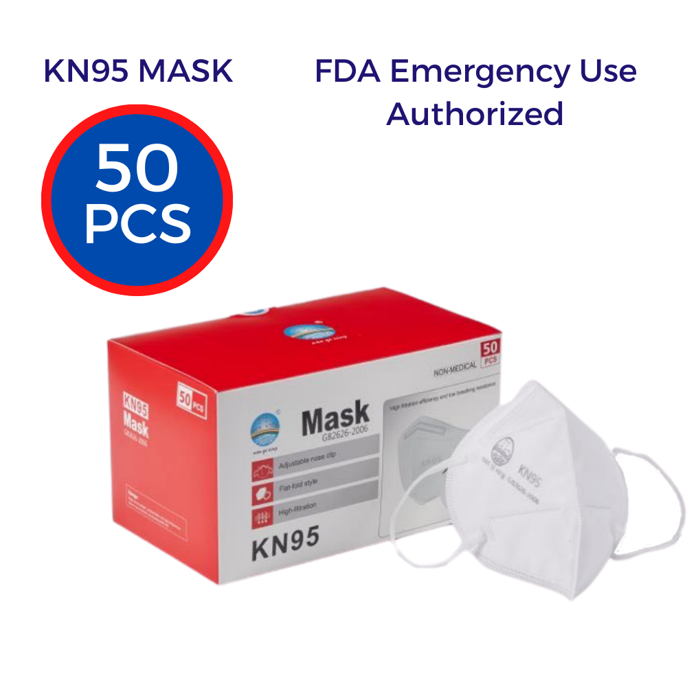KN95 Protective Face Masks White (50-pack)
