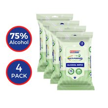 Load image into Gallery viewer, GERMisept Multi-Purpose 75% Alcohol Wipes 15 Count (4-pack)