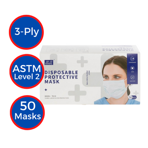 Disposable 3-ply Masks (50-pack)
