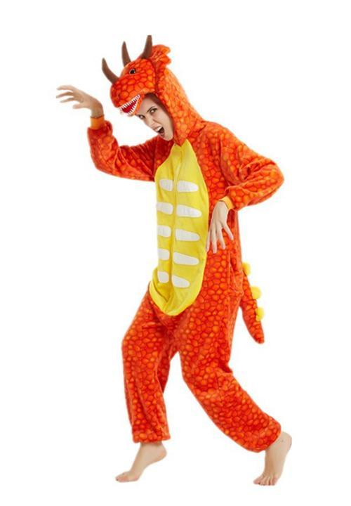 Pyjama combinaison Dragon Orange - 1