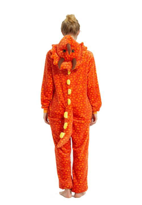 Pyjama combinaison Dragon Orange - 3