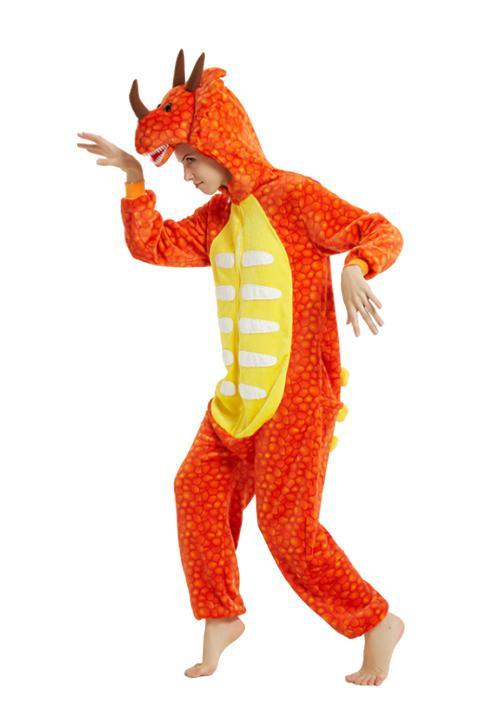 Pyjama combinaison Dragon Orange - 4