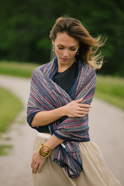 Anika Dali Sea Breeze Infinity Scarf Wrap