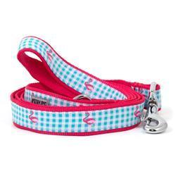 The Worthy Dog Leads - Gingham Flamingo