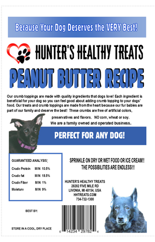 Hunter's Healthy Treats - Peanut Butter Crumb Topping