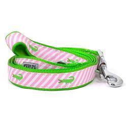 The Worthy Dog Leads - Pink Stripe Alligator