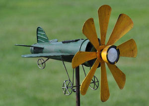 Stake Airplane Spinner - Solar Light