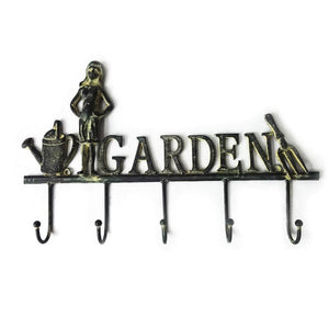 Garden Sign with Hooks