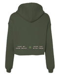 casualty - cropped recycle hoodie