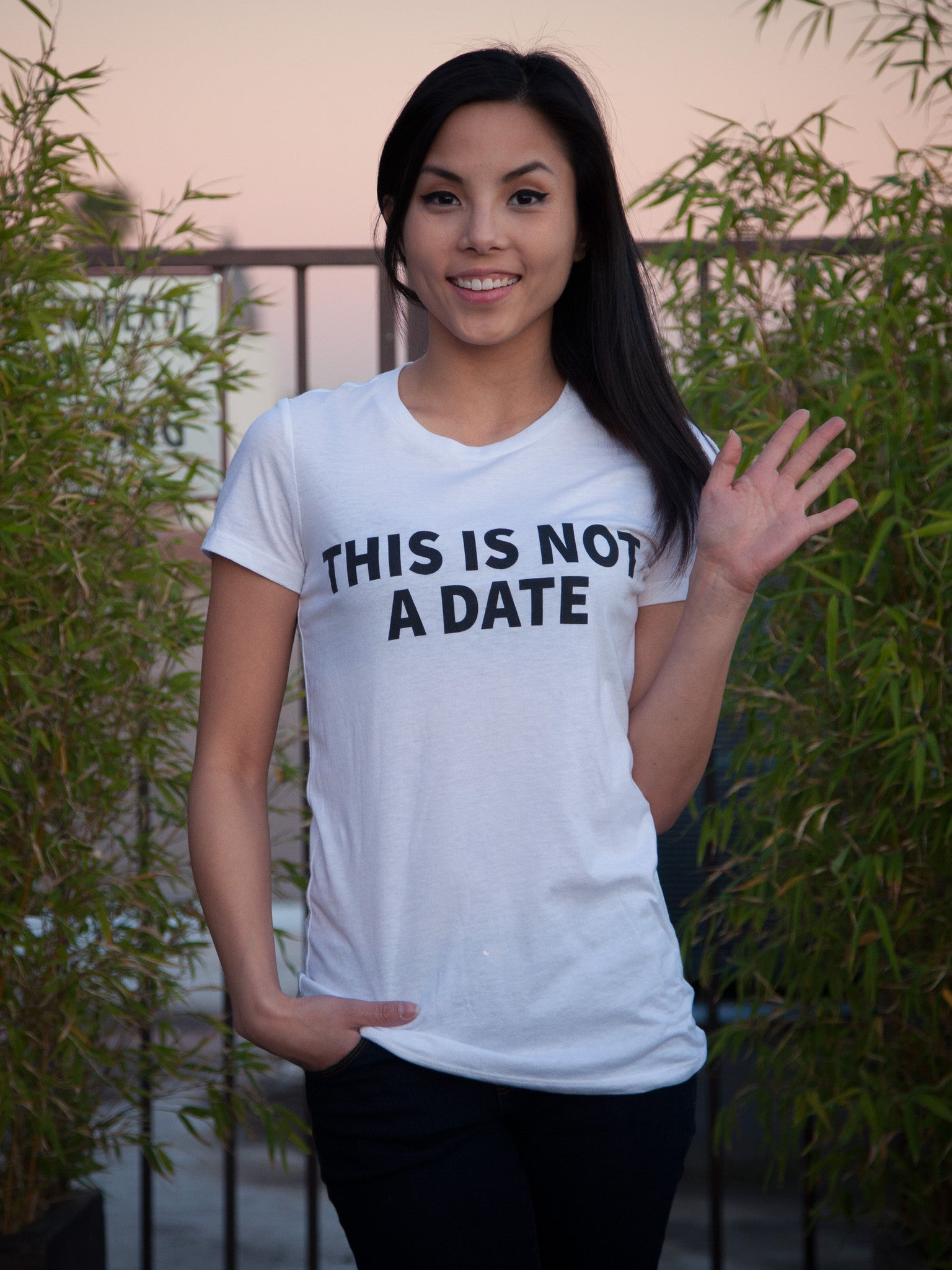 This Is Not A Date Tee - White
