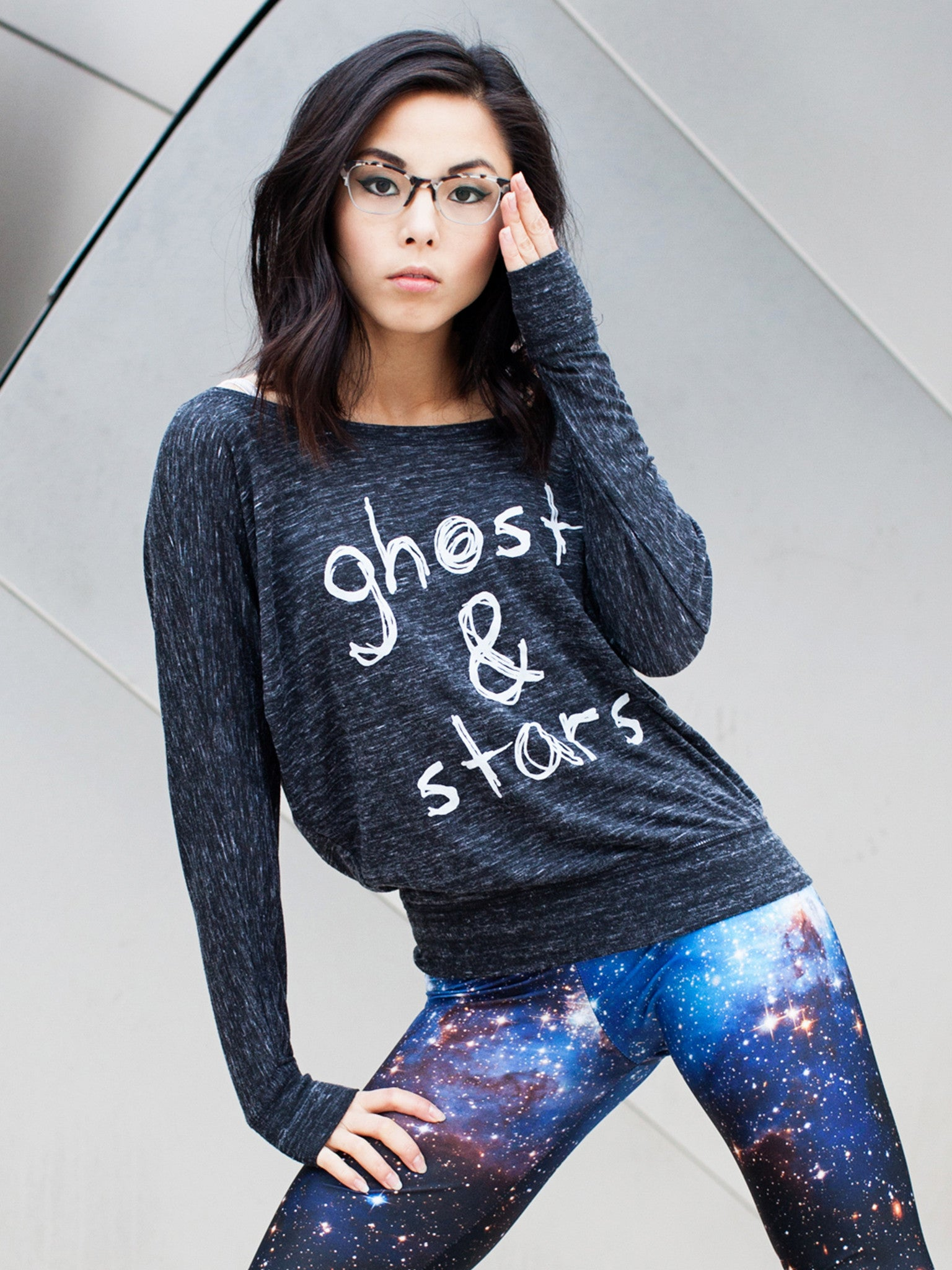 Ghost & Stars Off Shoulder Long Sleeve