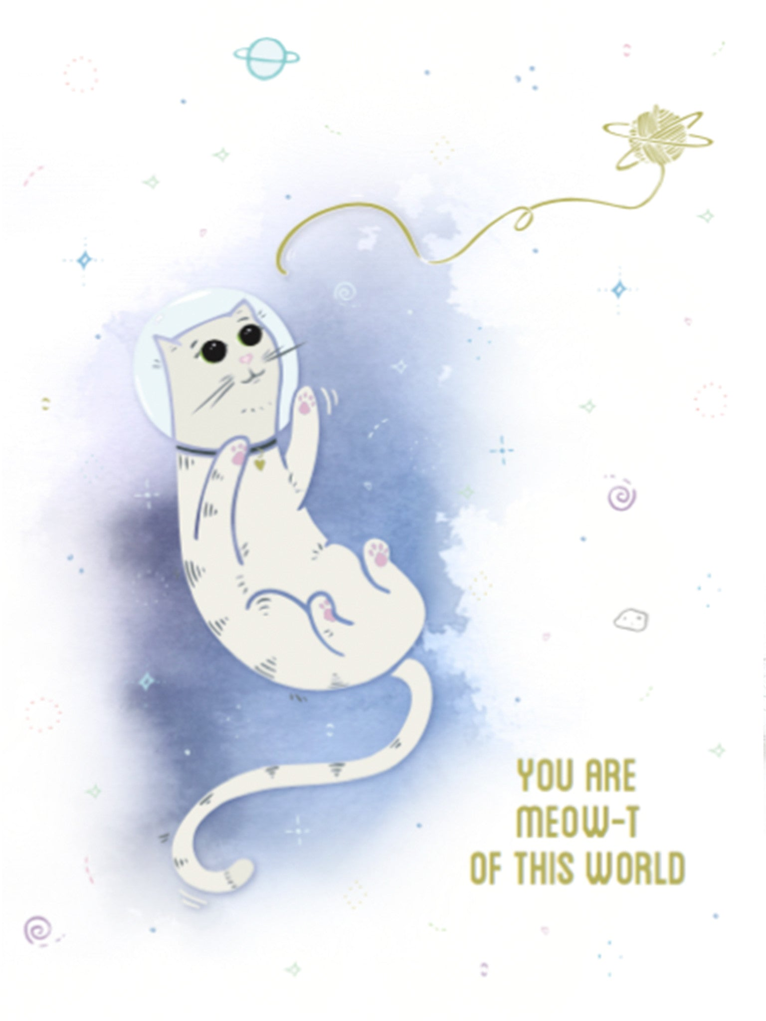 Catstronaut Greeting Card by Ivy & Ink
