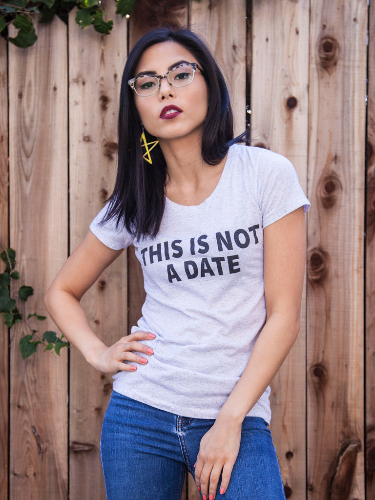BESTSELLER - This Is Not A Date Tee (Oatmeal)