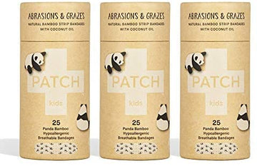 PATCH Coconut Oil Kids Adhesive Bandages - Tube of 25 x 3
