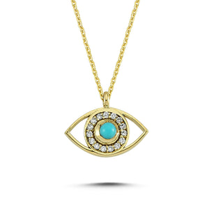 OWN Your Story Third Eye is Open Gold Pendant Necklace with Diamonds