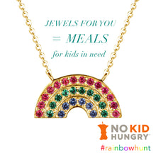 Load image into Gallery viewer, HELP US FEED KIDS! Buying Just 1 Gold Rainbow Necklace Donates Up To 50 meals!