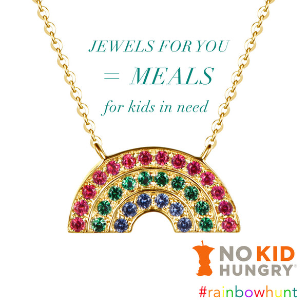 HELP US FEED KIDS! Buying Just 1 Gold Rainbow Necklace Donates Up To 50 meals!