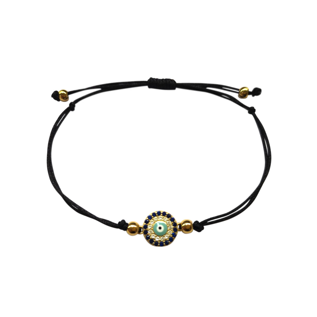 Atelier All Day Evil Eye Black String Bracelet