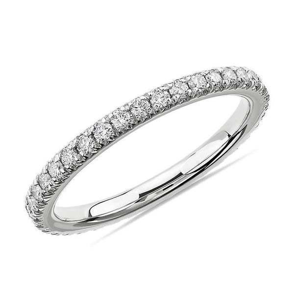 Labyrinth Diamonds French Pave Eternity Band - Round