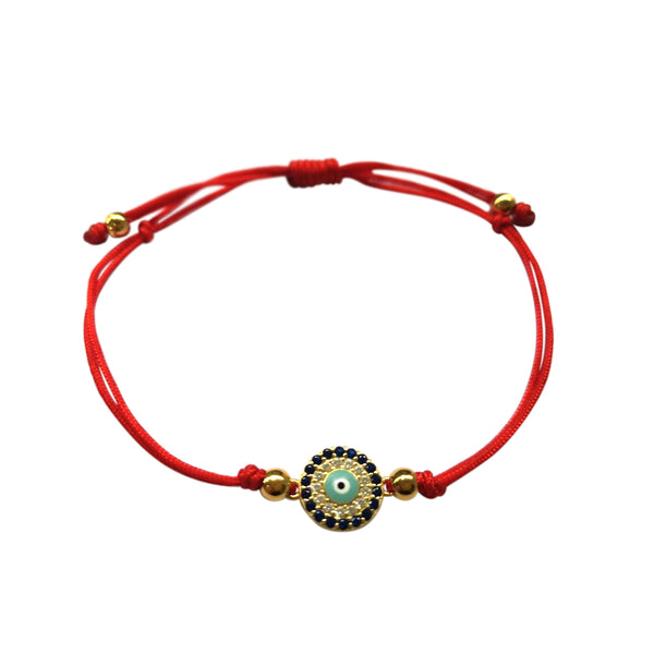 Atelier All Day Evil Eye Red String Bracelet