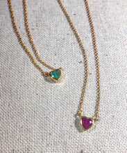 Load image into Gallery viewer, Atelier All Day 14K Gold & Precious Emerald Heart Pendant