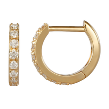Load image into Gallery viewer, Atelier All Day 14K Gold & Diamond Huggie Hoops