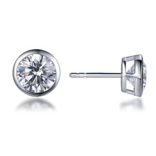 Load image into Gallery viewer, Labyrinth Diamonds Bezel Set Solitaire Diamond Earring - Round