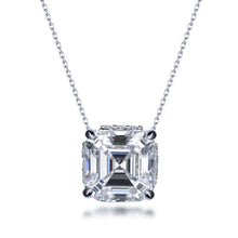 Load image into Gallery viewer, Labyrinth Diamonds Assher Hidden Halo Solitaire Diamond Pendant