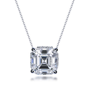 Labyrinth Diamonds Assher Hidden Halo Solitaire Diamond Pendant