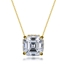 Load image into Gallery viewer, Labyrinth Diamonds Asscher Hidden Halo Solitaire Lab Diamond Pendant in 14K Gold