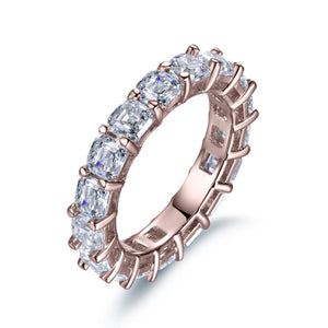 Labyrinth Diamonds Asscher Cut Diamond Eternity Band in 14K Rose Gold