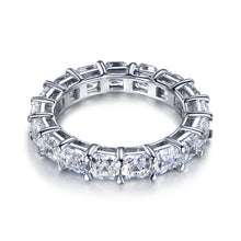 Load image into Gallery viewer, Labyrinth Diamonds Asscher Cut Diamond Eternity Band in 14K White Gold