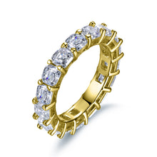 Load image into Gallery viewer, Labyrinth Diamonds Asscher Cut Diamond Eternity Band in 14K Yellow Gold