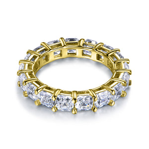 Labyrinth Diamonds Asscher Cut Diamond Eternity Band in 14K Yellow Gold