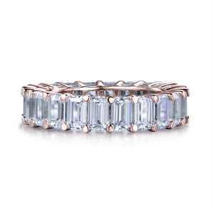 Labyrinth Diamonds 14K Rose Gold Emerald Cut Diamond Eternity Band