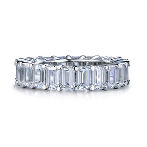 Labyrinth Diamonds 14K White Gold Emerald Cut Diamond Eternity Band