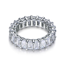 Load image into Gallery viewer, Labyrinth Diamonds 14K White Gold Emerald Cut Diamond Eternity Band