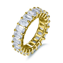 Load image into Gallery viewer, Labyrinth Diamonds 14K Yellow Gold Emerald Cut Diamond Eternity Band