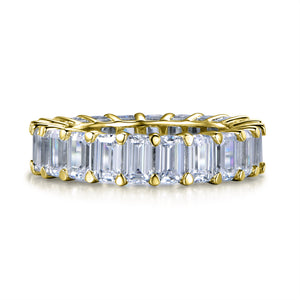 Labyrinth Diamonds 14K Yellow Gold Emerald Cut Diamond Eternity Band