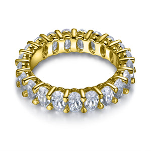 Labyrinth Diamonds 14K Gold Oval Cut Diamond Eternity Band - Oval