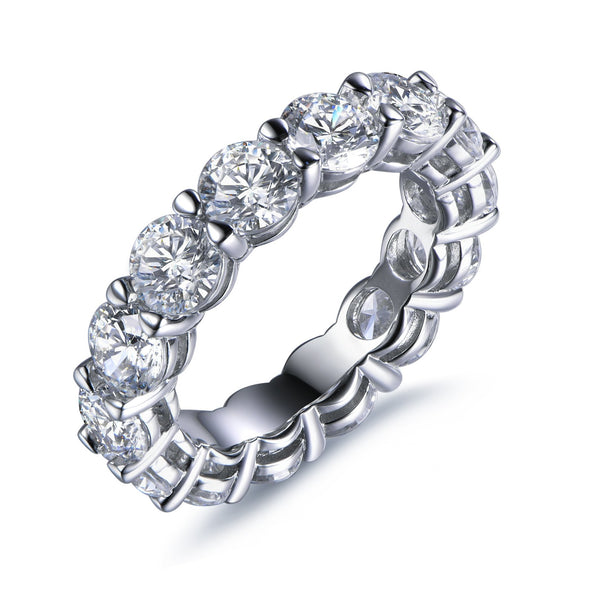 Labyrinth Diamonds 14K White Gold Round Set Diamond Eternity Band
