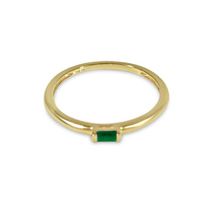 Atelier All Day 14K Gold Emerald Pinky Ring