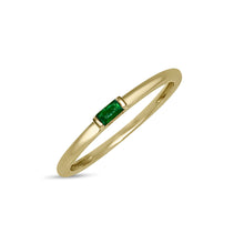 Load image into Gallery viewer, Atelier All Day 14K Gold Emerald Pinky Ring