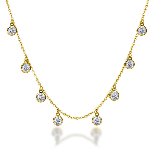 Labyrinth Diamonds 14K Yellow Gold Diamond Bezel Set on Chain