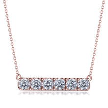 Load image into Gallery viewer, Labyrinth Diamonds 14K Rose Gold Diamond Bar Pendant