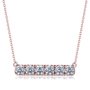 Labyrinth Diamonds 14K Rose Gold Diamond Bar Pendant